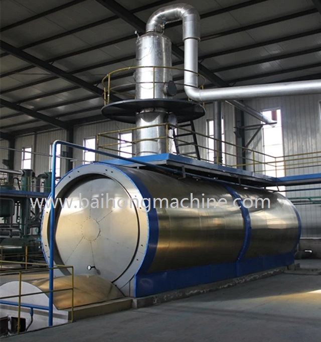High efficiency plastic recycling machine used oil recycling plant waste tyre pyrolysis plant