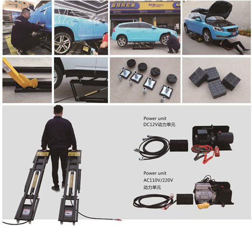 Double Level Scissor Car Lift For Wheel Alignment