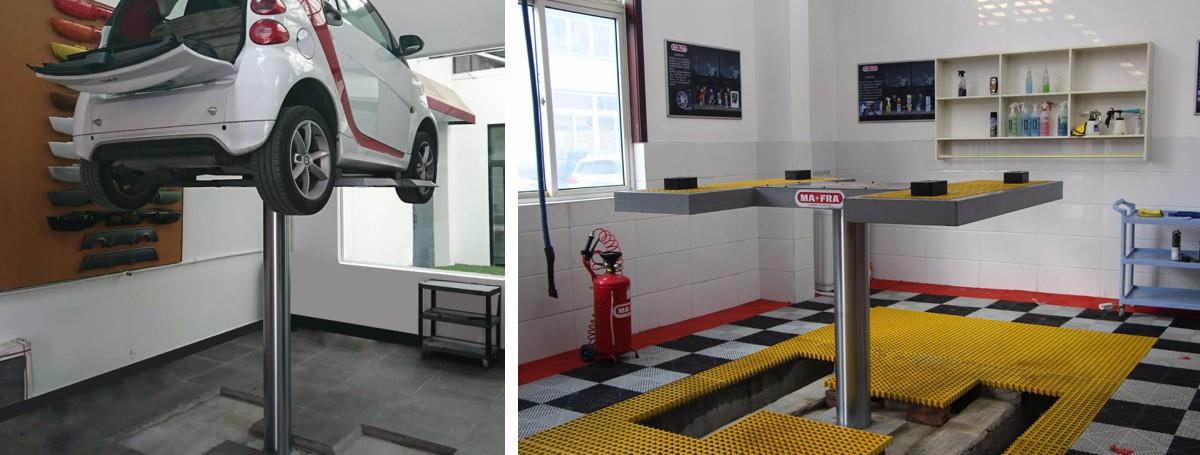 Single Post Inground Car Lift