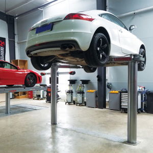 Clear Floor Inground Car Lift