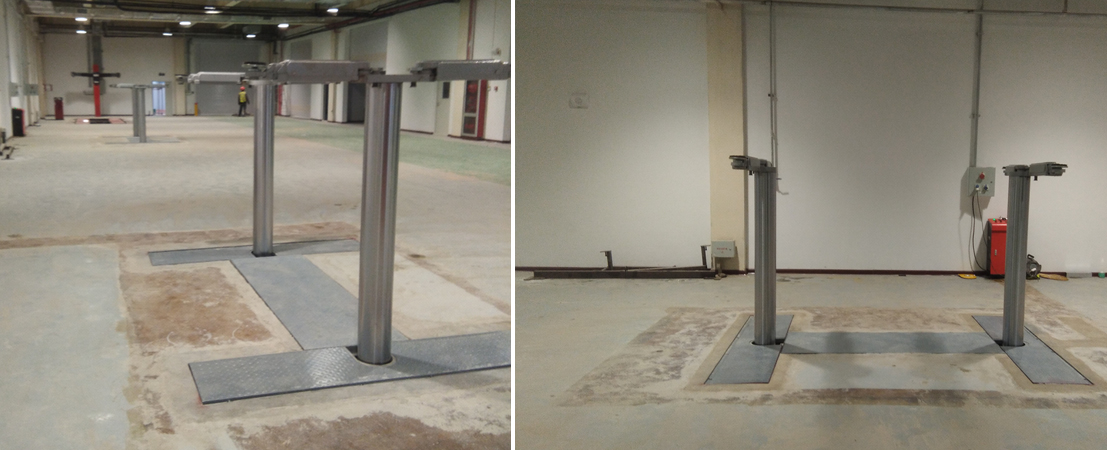 Underground Car Lifts 2 Post