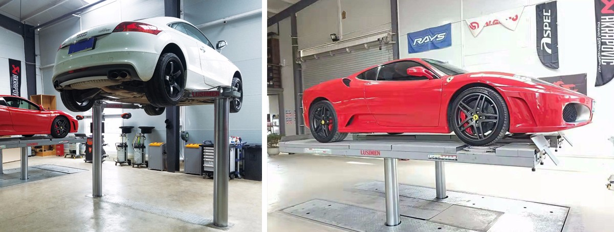 Hydraulic Inground Car Lift 2 post