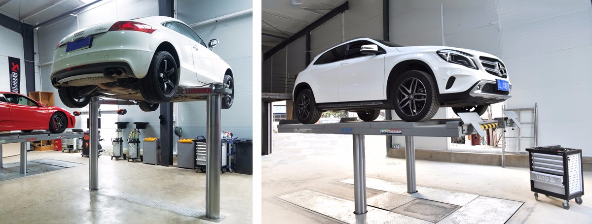 Two Post Hydraulic Inground Car Lift