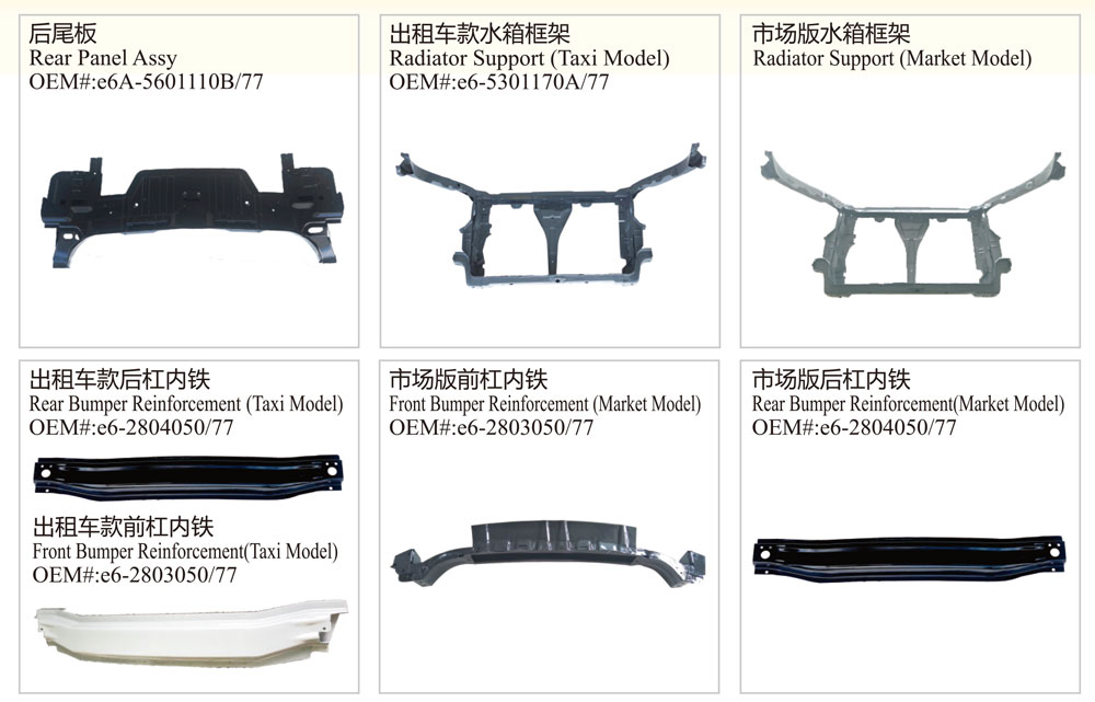 Auto Body Parts for Byd E6