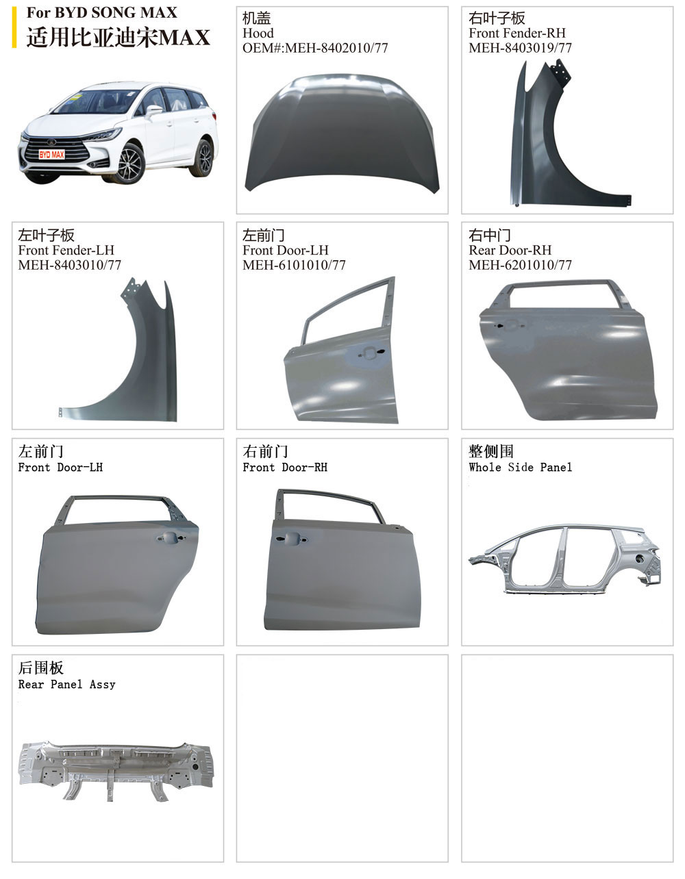 Byd Song Max Front Fender
