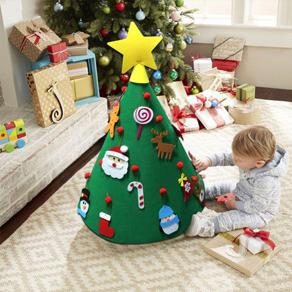 DIY Christmas Tree Style Home Decor felt Ornament Gift Decoration