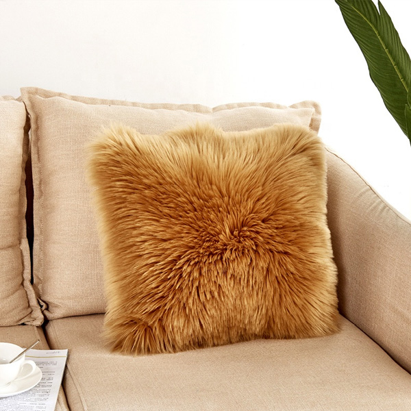 Soft Curly Plush Cushion Case for Bedroom