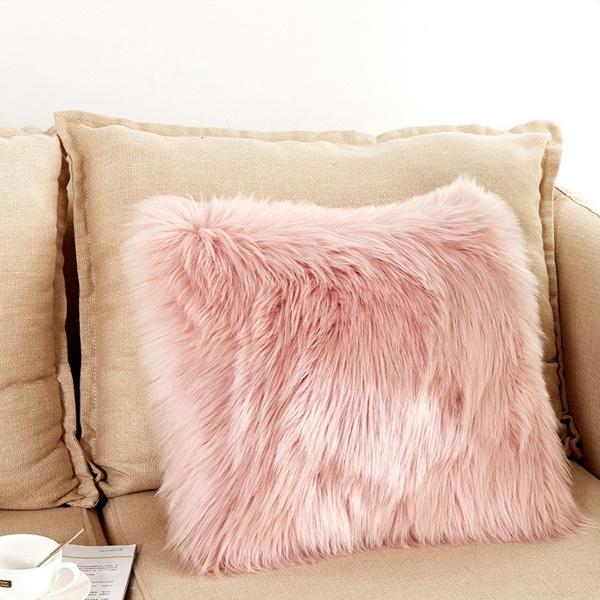 Very Soft & Comfy plush shaggy fur pillow best faux fur pillows