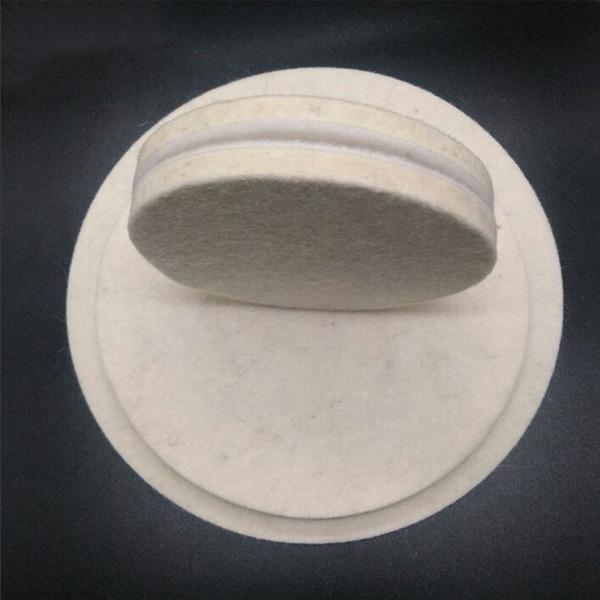Manufacture 100% wool felt polishing wheel for glass jewelry polishing