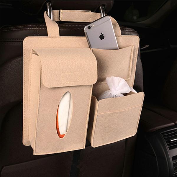 Multifunctional 7 Pockets Felt Car Backseat Organizer