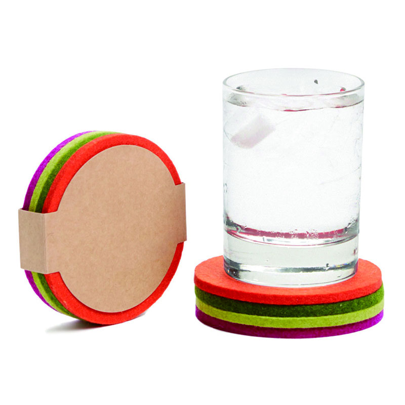 3mm Finequality Heat-resistant Useful Felt Coffee Cup Pad / Felt Placemat / Felt Coaster