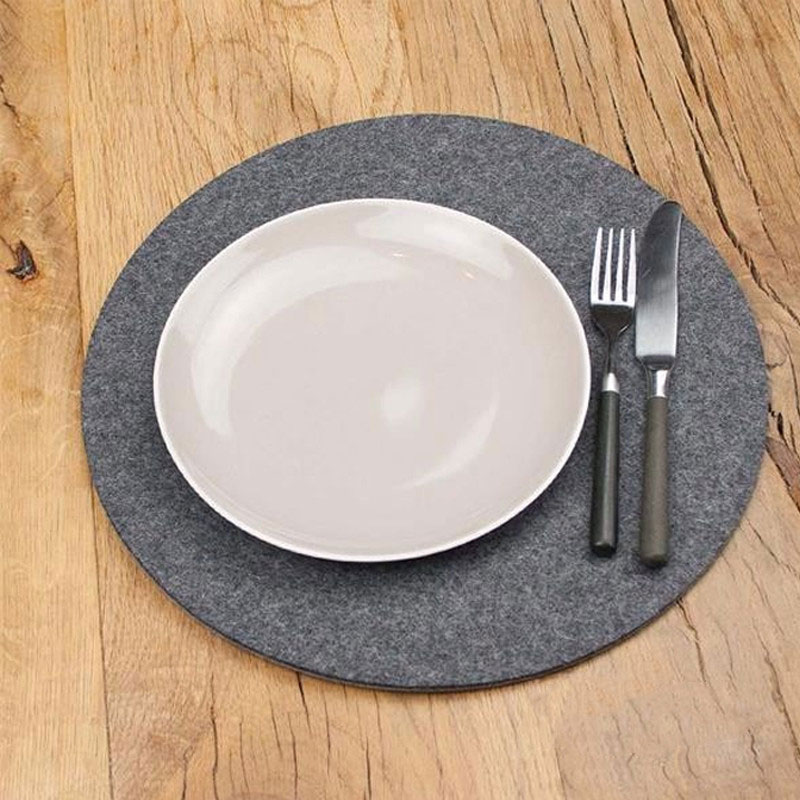 Factory Cheap custom Felt Bowls Mat for Table