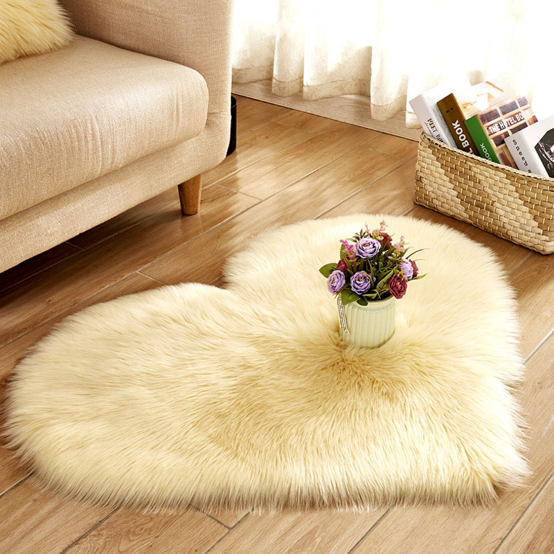 Living room faux fur blanket throw carpet and rug