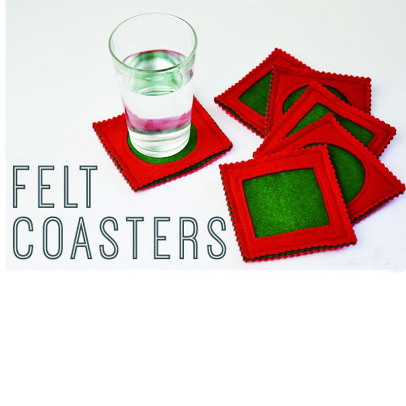 Standard Size Felt Coaster Tea Coffee Cup Mat Pads