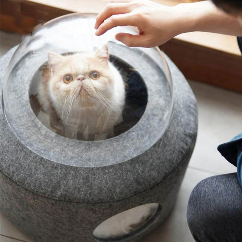 New products wool felt pet bed cat cave/house for cat