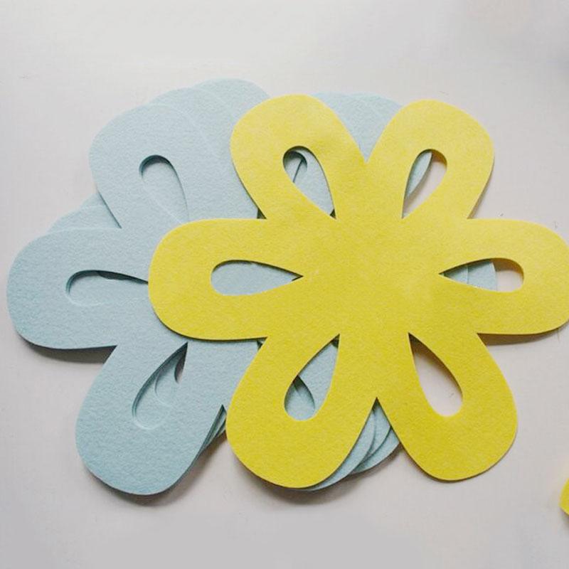 China promotional flower shape felt pan protector, pan mat