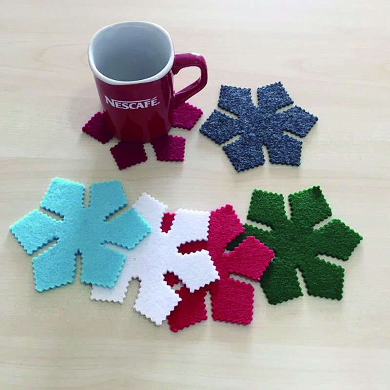 Lovely Felt Cup Coaster Felt Glass Mat Felt Placemat With Competitive Price