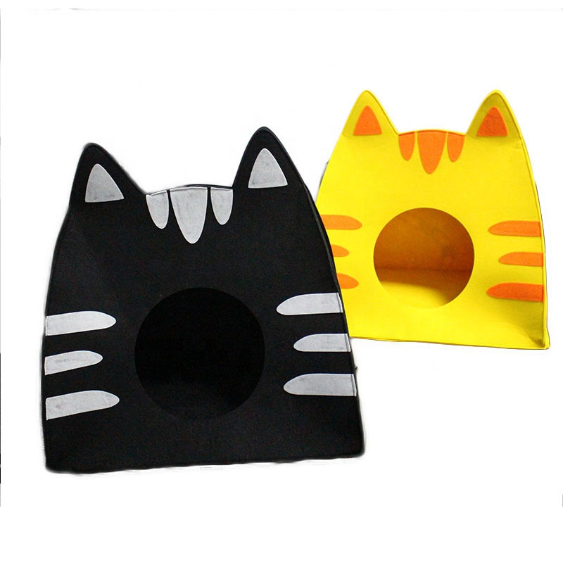 New fashion design indoor felt cat house for four seasons use