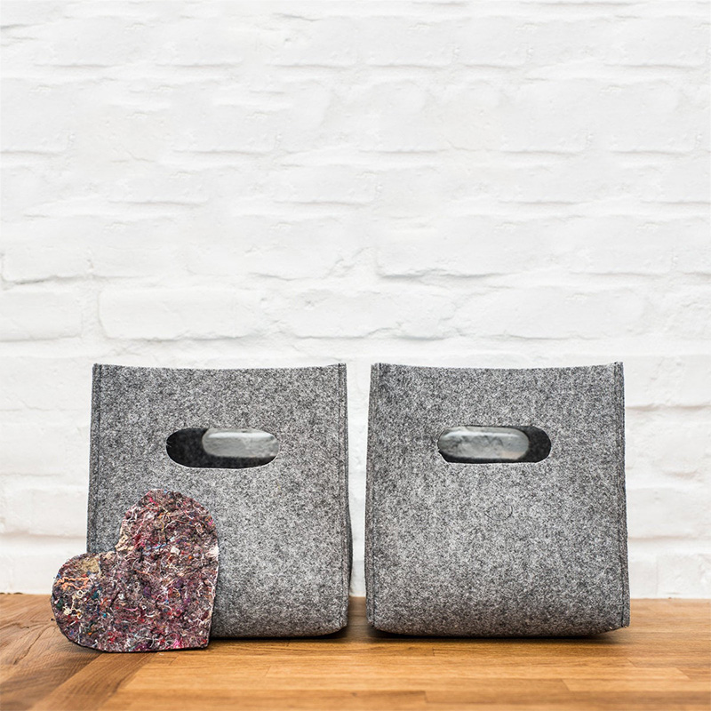 Hot selling eco-friendly felt storage basket box