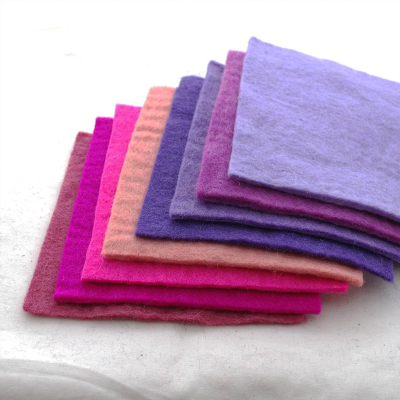 colorful pressed wool felt sheet