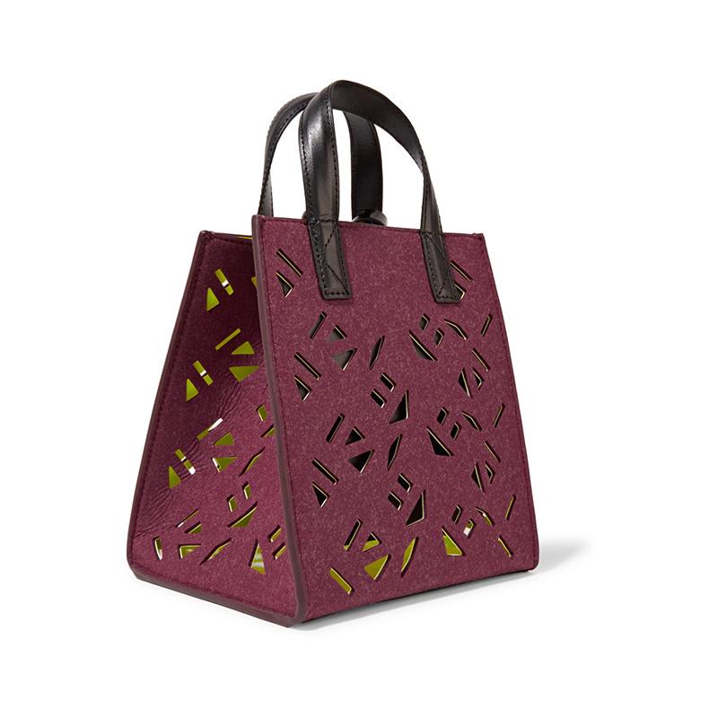 Hot Selling Ladies Durable Polyester Felt Print Handbag
