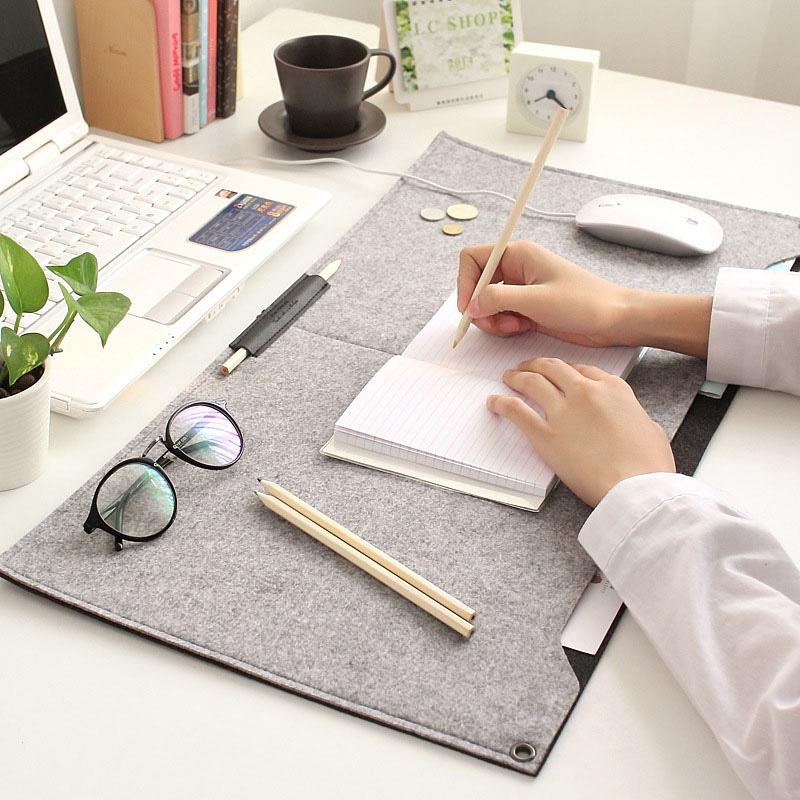 Large Office Mouse Mat Felt Computer Desk Mat