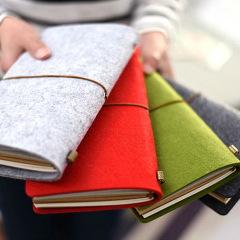 Factory Supply A6 Felt Diary A5 Felt Notebook cover