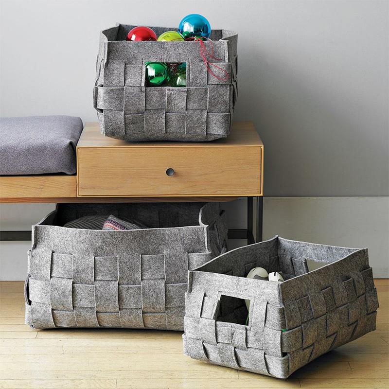 Eco-Friendly OEM Handmade Felt Storage Basket