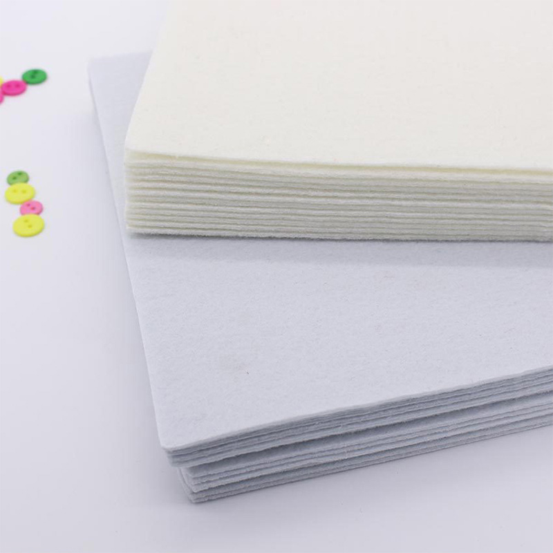 Professional factory recycled white felt