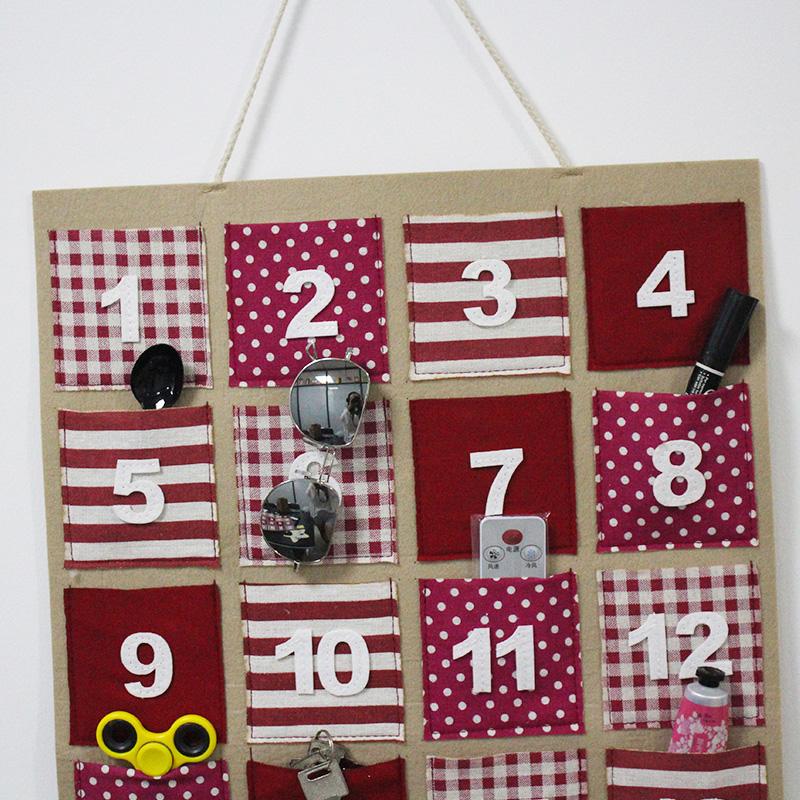 Home 24 Pockets 2 Layers Felt Closet Hanging Organizer