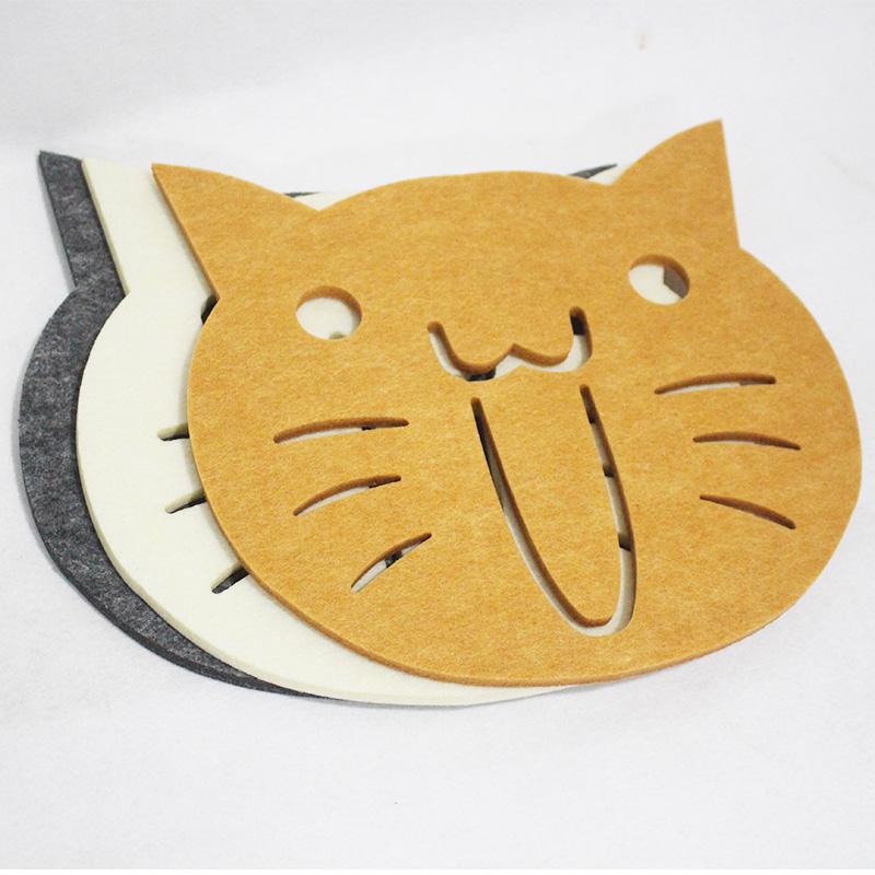 Professional custom heat-resistant polyester felt coaster