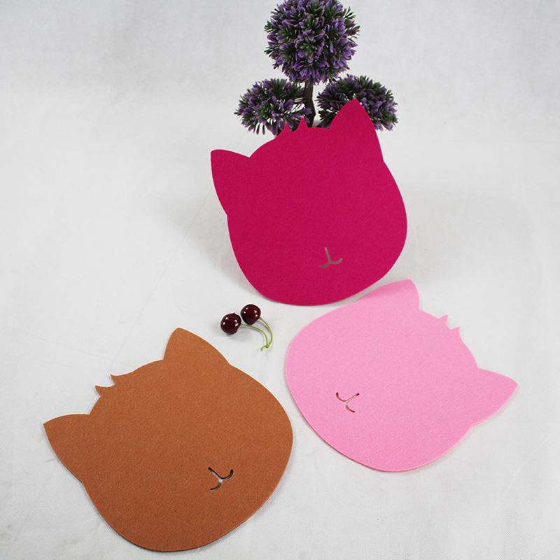 Anti-static Cat Shape Felt Table Mouse Pad