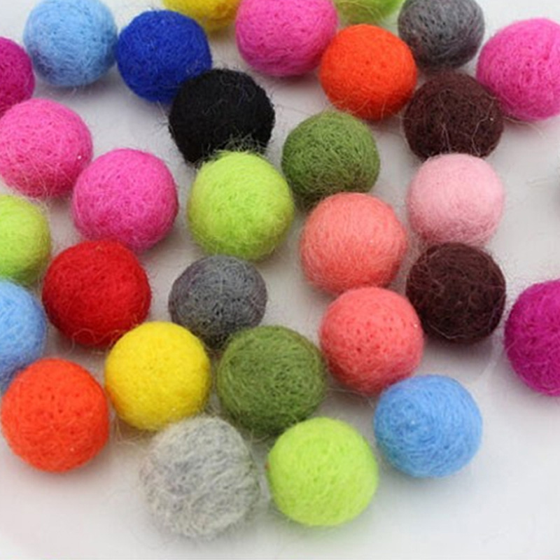 clothes/festival decoration wool felt ball