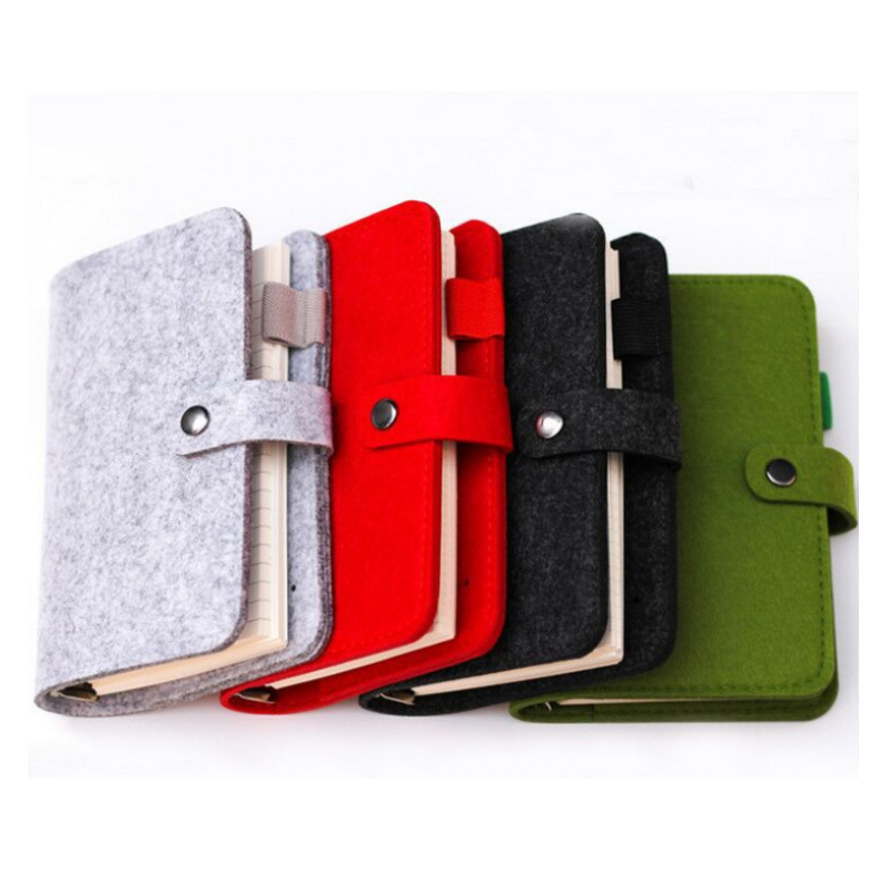 Hot Sell Custom Colored Felt Notebook Cover