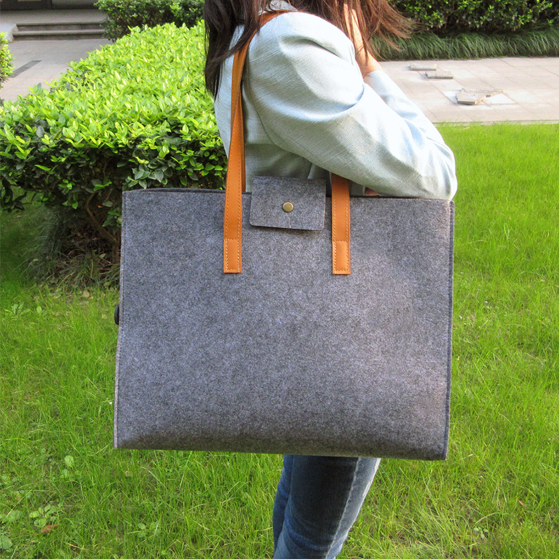 Women Fashion Shoulder Bag Cheap Shopping Bags Felt Key Bag
