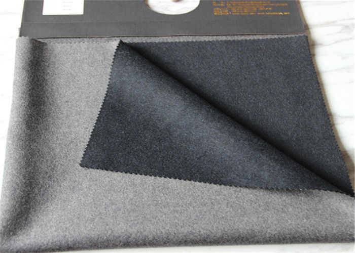 Iso9001 Double Faced Wool Coating Fabric Different Color