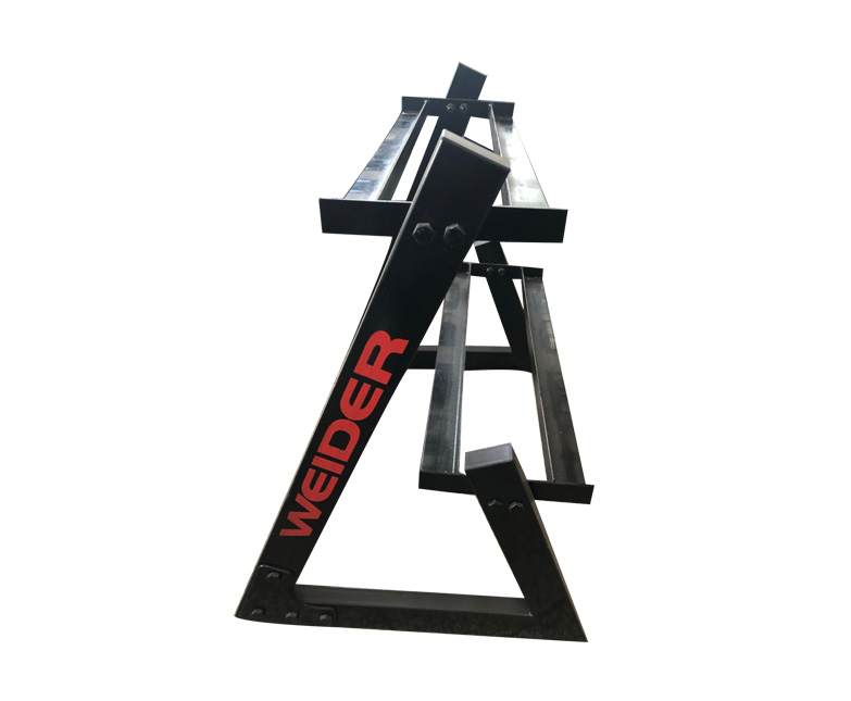 Triangle tower dumbbell rack