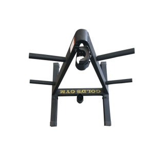 Triangle tower solid steel high-end barbell shelf