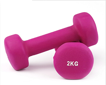 Vinyl dumbbell weights set