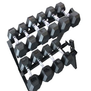 Plastic hexagonal dumbbell