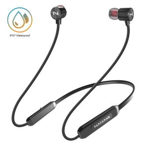 NANAMI Bluetooth Headphones Bluetooth 5.0 Wireless Earbuds IPX7 Waterproof Sports in-Ear Earphones w/Mic,HiFi Stereo Deep Bass Headsets,Magnetic Neckband 10 Hours Playback for Gym Workout