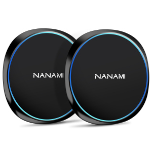 NANAMI Fast Wireless Charger,10W Qi-Certified Wireless Charging Pad [2 Pack] Compatible Samsung S10/S10+/S9/S8/S7/Note 10/9/8, 7.5W for iPhone 11/11 Pro/11 Pro Max/XS Max/XS/XR/X/8/8 Plus/New Airpods
