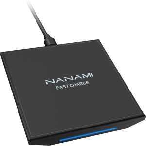 NANAMI Upgraded Wireless Charger, Qi Certified 15W Max Fast Charging Pad, Compatible for iPhone 12/Pro Max/Mini/SE 2/11/XS/XR/X/8 Plus/AirPods Pro,Samsung S20+/S10/S9/S8,Galaxy Note 20/10/9,LG V30/V40
