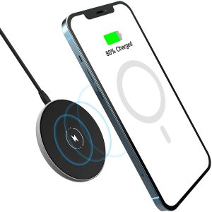 iPhone 12 Wireless Charger, NANAMI Magnetic Wireless Charger with Type C&USB A Port, Fast Charging Pad Built-in Safe Magnets Compatible for iPhone 12/12 Pro/12 Pro Max/12 Mini/AirPods Pro