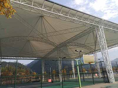 PVDF ceiling (dome) tension film display