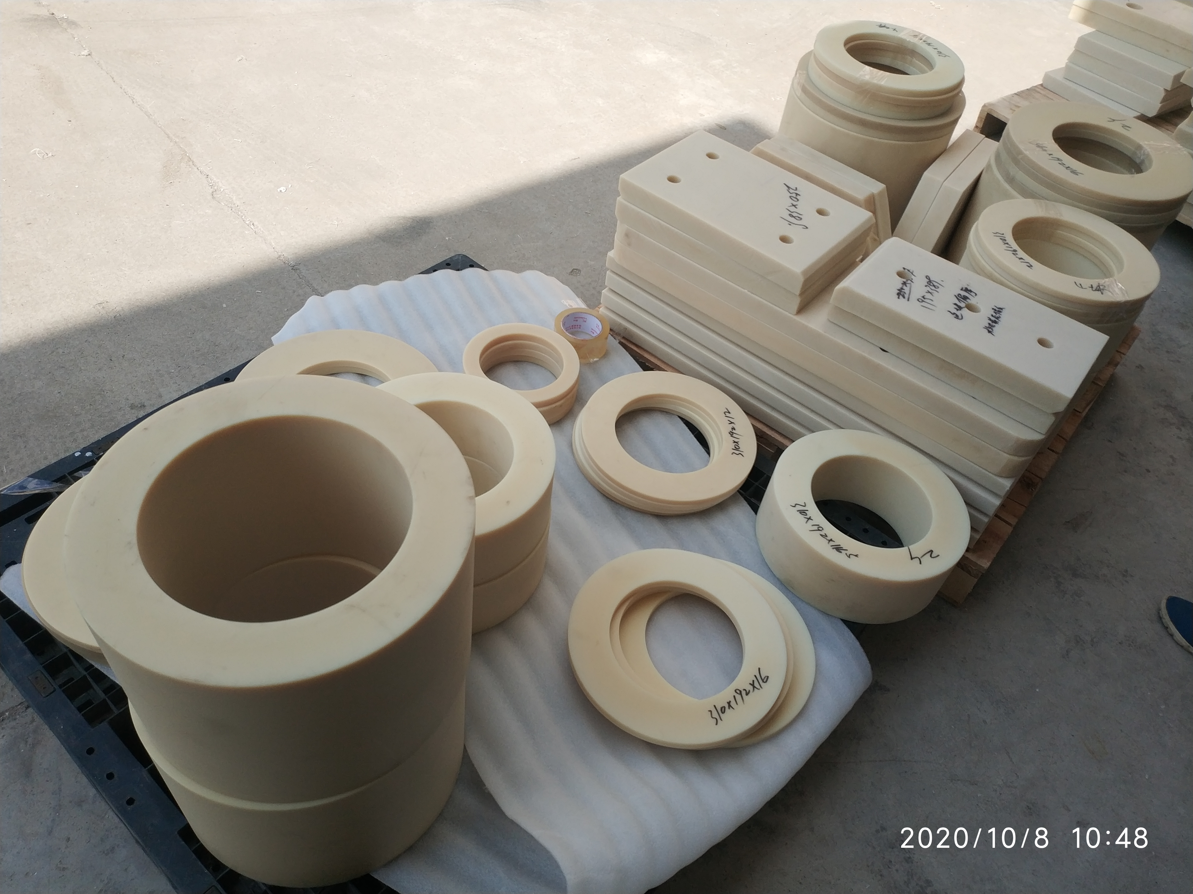 Polyamide (PA66) Sheet ,PA66 rod, PA66 machanical sharp parts