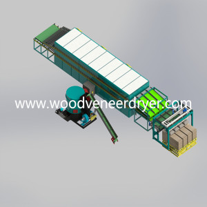 Popular Pinus Sylvestris Roller Veneer Dryers Machine
