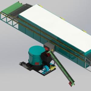 Biomass Roller Veneer Dryers Machine for plywood making