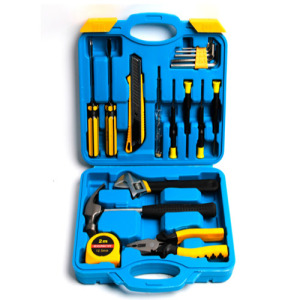 Tool Set General Household Hand Tool Kit with Plastic Toolbox