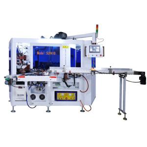 auto three colours screen printing machine with varnishing